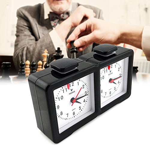 - Shsyue Quartz Chess Clock Count Up Down Timer for Game Competition Timers