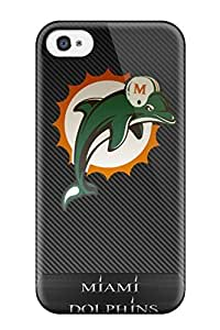 Hard Plastic Iphone 4/4s Case Back Cover,hot Miamiolphins Case At Perfect Diy