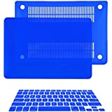 """TopCase 2 in 1 Rubberized Hard Case Cover and Keyboard Cover for Macbook Pro 15"""" A1286 (Case NOT for Retina Display) with TopCase Mouse Pad (Macbook Pro 15"""" A1286, Royal Blue)"""