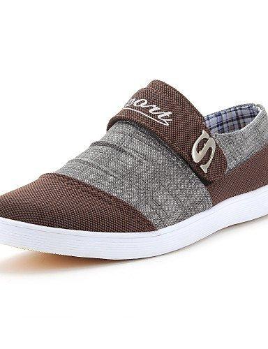 Ei&iLI Zapatos de Hombre Casual Vaquero Sneakers a la Moda Azul/Marrón , blue , us9.5 / eu42 / uk8.5 / cn43 Blue