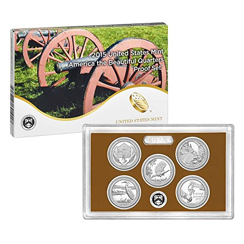 2015 United States Mint America the Beautiful Quarters Proof SetTM (Q5G) OGP ()