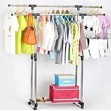 Kleiderständer Kleiderwagen Kleiderstange Garderobenständer mit 4 Rollen KOKO