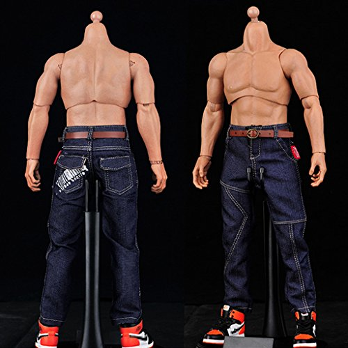 Baoblaze 1/6 Male Action Figure Canvas Sneaker and Jeans for 12 Inch Phicen Hot Toys 5oP5xU0xe