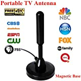 SongBot High Gain 50 Miles Digital TV Antenna Portable Indoor Outdoor Free Channels HDTV Antenna for