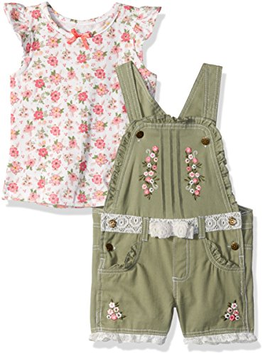 Nannette Toddler Girls' 2 Piece Shortall and Tee Set, Green, 3T by Nannette (Image #3)