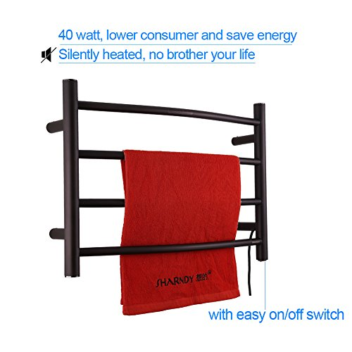Sharndy Electric Towel Rack Towel Warmer Orb Wall Mounted Oil Rubbed Bronze by SHARNDY (Image #2)