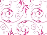 Pack Of 1, 30''X100' Jewel Swirl Frosted Pink Classic Print Cello Rolls 1.0 Mil Made In USA