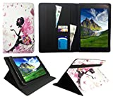 Sweet Tech ANOC 10.1 Inch Android Tablet Floral Butterfly Girl Universal Wallet Case Cover Folio (10-11 inch)