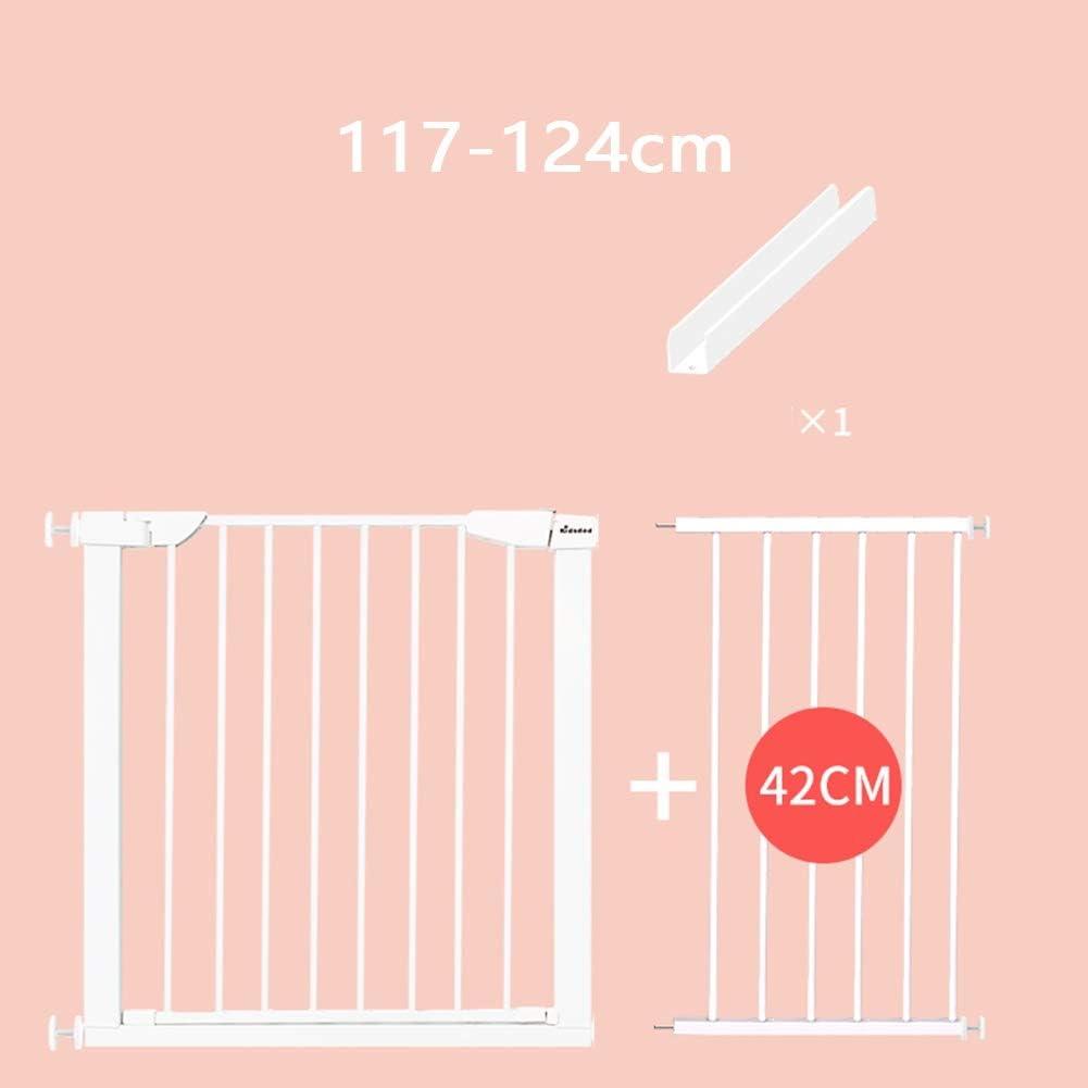 Color : White, Size : 65-72cm 21 Tama/ños AGLZWY Valla De Seguridad para Escaleras Barrera Beb/é Separador Estancias Valla para Mascotas Doble Cerradura Segura Montaje En La Pared Puertas