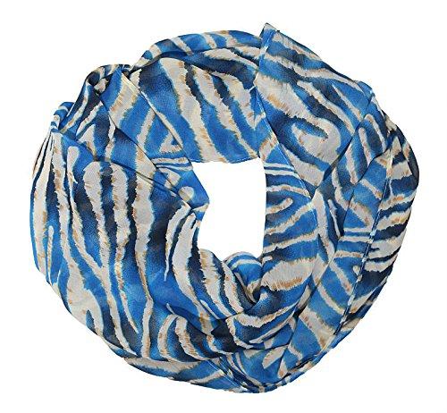 51TzjjxCq0L - MANUMAR Loop-Schal für Damen | Hals-Tuch in verschiedenen Farben mit Animal Print Motiv als perfektes Sommer-Accessoire | Schlauchschal | Damen-Schal | Rundschal | Geschenkidee für Frauen und Mädchen