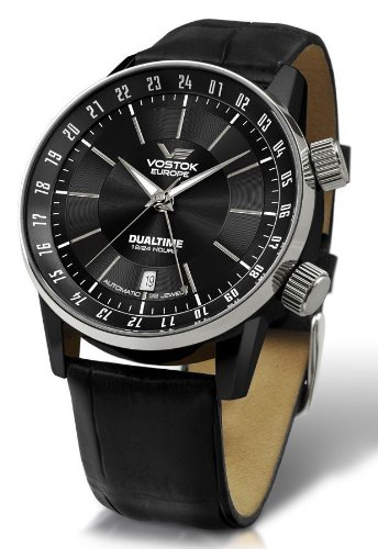 Vostok Europe - Gaz-14 Limousine - Dual Time - Black PVD - 2426/5602059