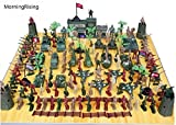 army men and tanks - MorningRising 146 PCS WWII Set Army Men,War Soldiers with Handbag,Toy Soldiers Set,Gift for Kids
