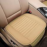 auto air cushion - Big Ant Car Seat Cushion, 1PC Breathable Car Interior Seat Cover Cushion Pad Mat for Auto Supplies Office Chair with PU Leather(Beige)