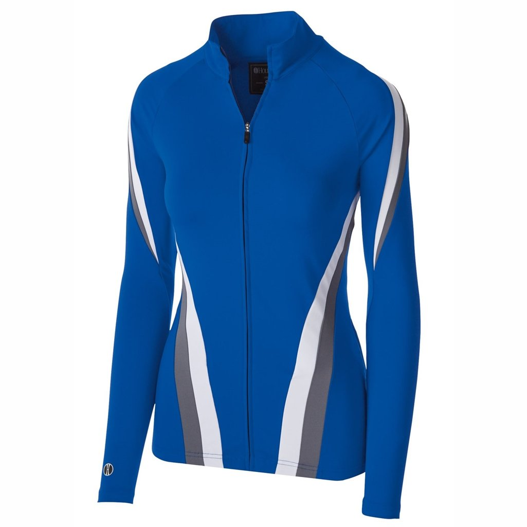 Holloway Dry Excel Girls Aerial Semi Fitted Jacket (Small, Royal/Graphite/White) by Holloway