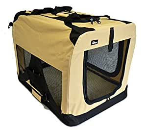 "topPets Portable Soft Pet Carrier - Large: 28""x20""x20"" - Beige"