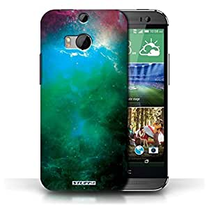 KOBALT? Protective Hard Back Phone Case / Cover for HTC One/1 M8 | Green Nebula Design | Space/Cosmos Collection