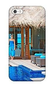 QeMJjKT4287MFLBM Maldives Holidays Romantic Evening Fashion Tpu 5/5s Case Cover For Iphone(3D PC Soft Case)