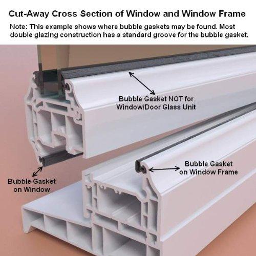 Push Fit Replacement uPVC(PVC) window/door seal - 6M Universal ...