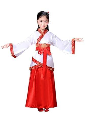 YIHIGH Hanfu,Han Clothing Niño Niña Traje Chino de la Etapa ...