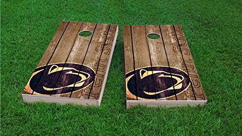 Tailgate Pro's Penn State Nittany Lions Distressed Cornhole Boards, ACA Corn Hole Set, Comes with 2 Boards and 8 All Weather Bags