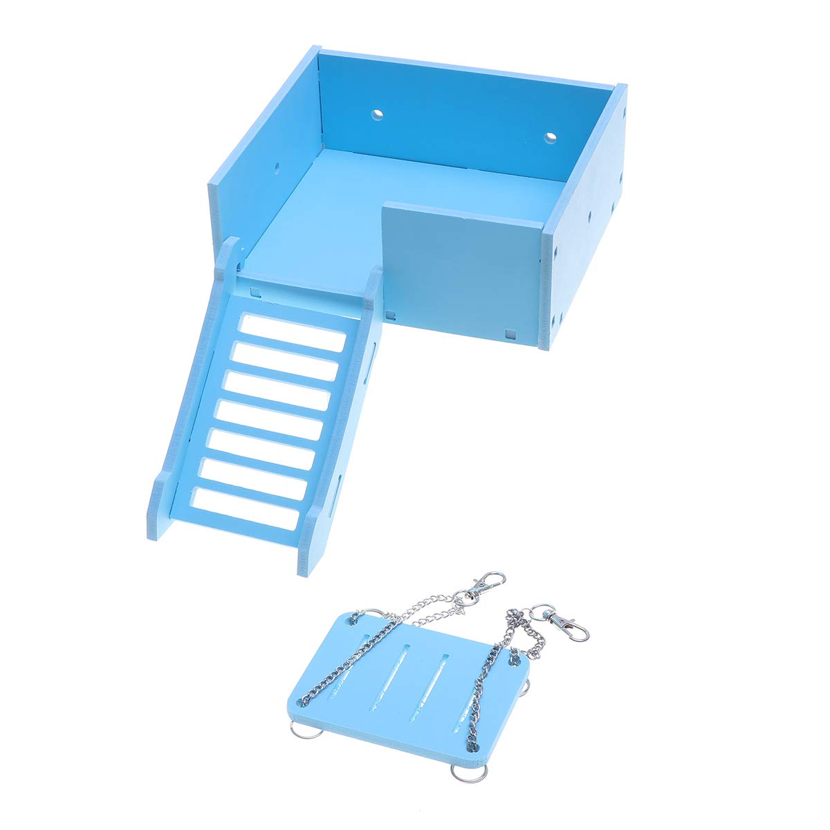 POPETPOP Hamster House Crawling Ladder Slide Swing Exercise Toys for Small Pets