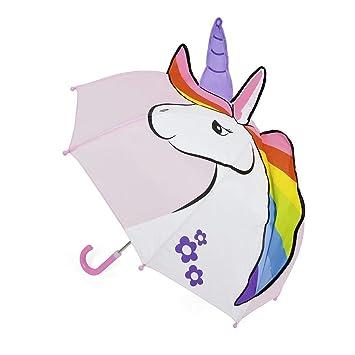 5453ec7f3dd73 Ks Girls Pink 3D Unicorn Bubble Dome Umbrella Brolly Childrens School Travel:  Amazon.co.uk: Toys & Games
