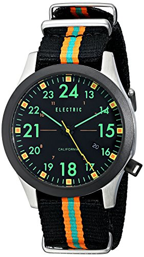 Electric Men's EW0010020039 FW01 Nato Band Analog Display Japanese Quartz Black Watch