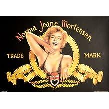 Marilyn Monroe (Norma Jean Mortensen) 38.75x26.75 Art Print Poster Marlyn in Metro-Goldwyn-Mayer style Logo Very Heavy Stock