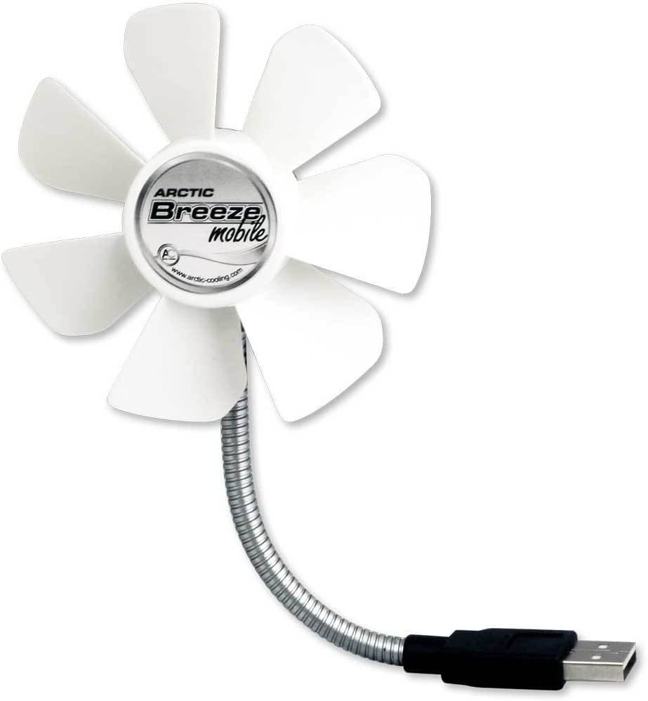 ARCTIC Breeze Mobile USB-Powered 92mm Portable Fan, Portable Cooling Solution, Quiet Fan - White
