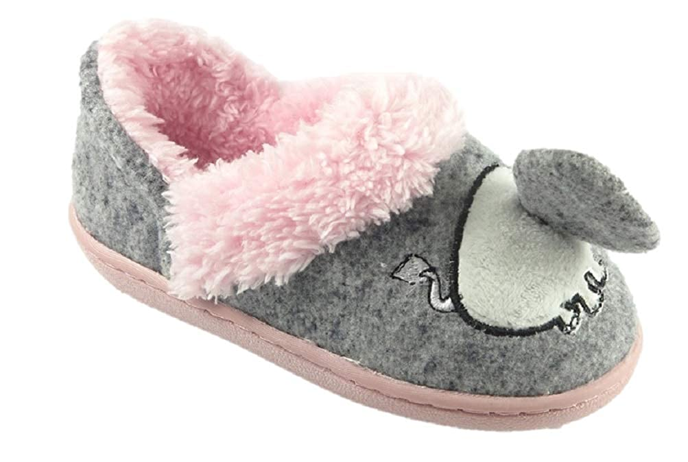 Wonder Nation Toddler Girls Elephant A-Line Slippers House Shoes