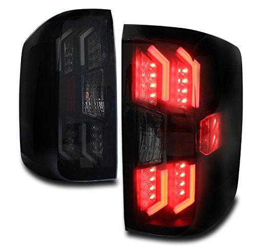 ZMAUTOPARTS Chevy Silverado LED Tube Tail Lights Black/Smoke