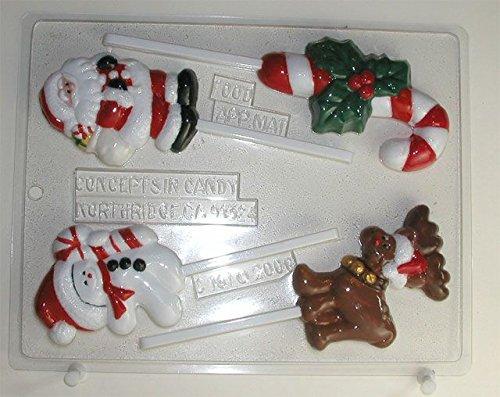 Christmas Assortment Lollipops - Christmas Candy Mold - C158