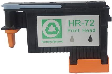 Caid 1 x cabezal de impresión (negro/gris) Compatible HP 72 ...