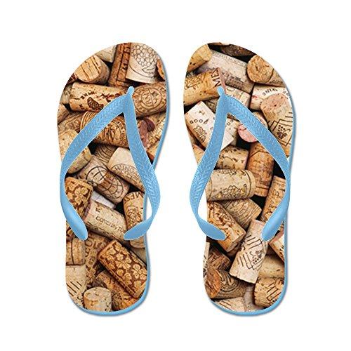 Cafepress Wijnfles Kurken - Flip Flops, Grappige String Sandalen, Strand Sandalen Caribbean Blue