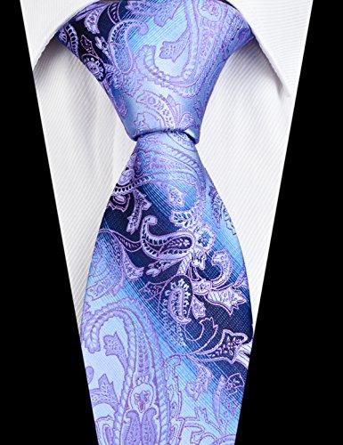 cravate floral Alizeal homme amp; Pochette Mouchoir Violet ngpn0Bfqa
