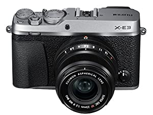 Fujifilm X-E3 Mirrorless Digital Camera w/XF23mmF2 R WR Kit - Silver