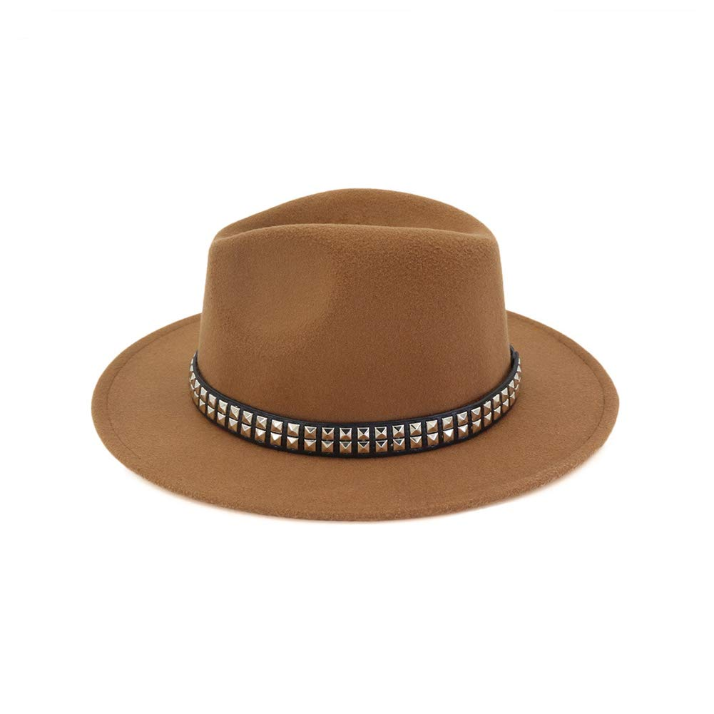 Vim Tree Men Women Wide Brim Fedora Hat Panama Hat Buckle