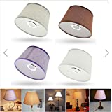Cotton Textured Fabric Empire Drum Shade Table Ceiling Lampshade (White)