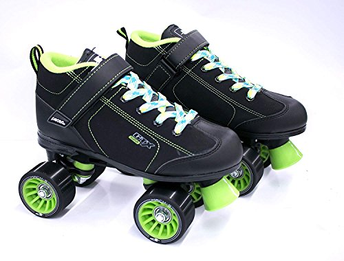 (GTX-500 w/ Neon Plaid Laces (Black & Green w/ Yell,Blu,&Wht, Mens 11/Ladies 12))