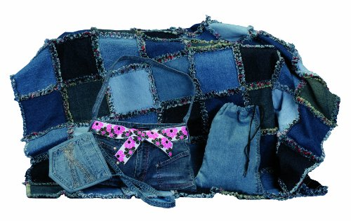 Haan Crafts Recycled Jean Projects Beginner/Kids Sewing Kit
