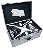 Ultimax Aluminum Hard-Shell Case with Adjustable Foam Fits with All DJI Phantom Drone Models/Series 1+2+3 and Extra Ulitmax Accessories