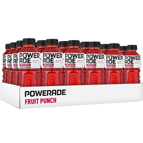 POWERADE ZERO Fruit Punch Sports Drink, Family Pack, 20 fl oz, 24 Pack (Fruit Gator Punch)