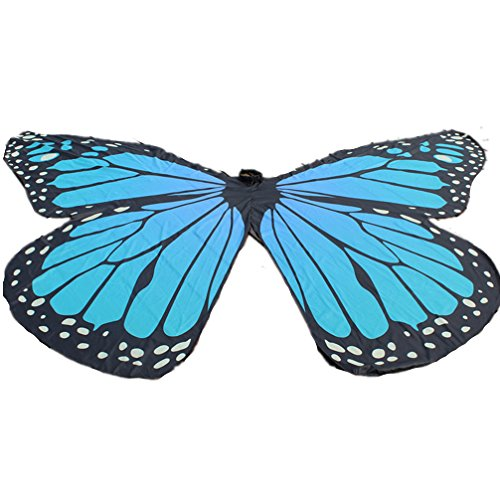 2018 Performance Costumes Girl/Boy Exotic Butterfly Belly Dance ISIS Wings(Lake Blue) ()