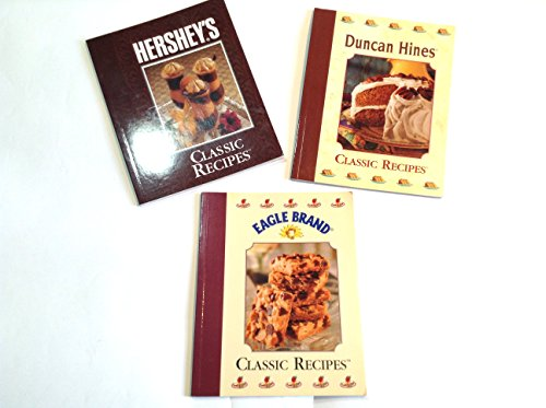 Classic Recipes Books Bundle Set of 3 Hershey's Duncan Hines Eagle Brand Paperback Softcover (Duncan Hines Cake Recipes)