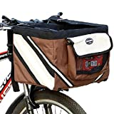Pet Bicycle Carrier Dog Basket for Bikes Front Seat Bag with Big Side
