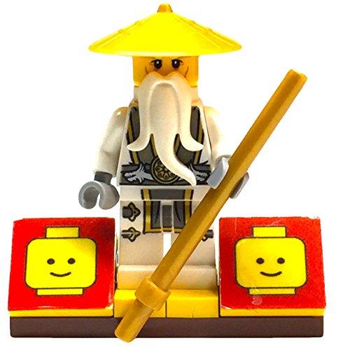 MinifigurePacks: Lego Ninjago Bundle (1) Flying White Dragon Sensei Wu Minifigure (1) Figure Display Base (1) Figure Accessory (Staff of the Dragons)