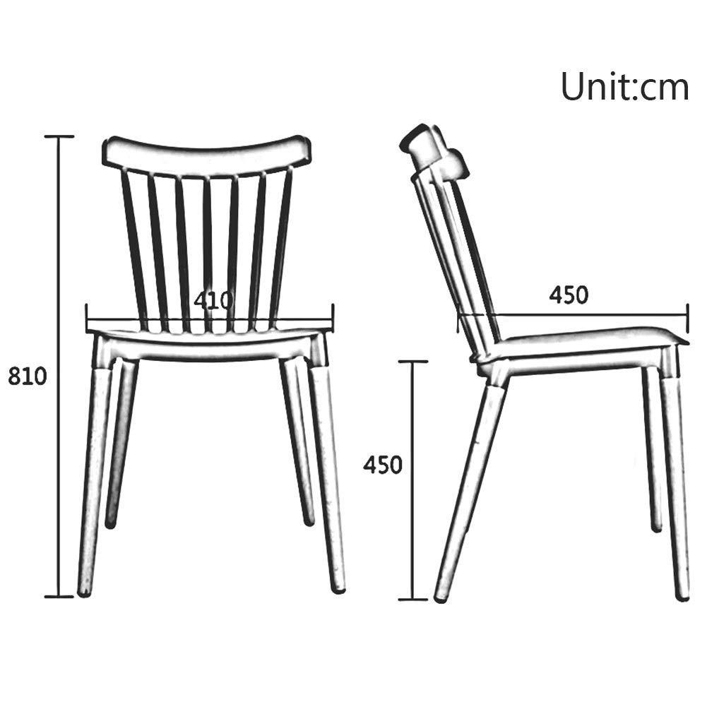 JIEER-C Fritidsstolar matstolar ergonomisk modern design plaststol stol träben lätt att montera sitthöjd 45 cm hållbar stark Orange