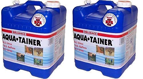 Reliance Products Aqua-Tainer 7 Gallon Rigid Water Container (Pack of 2) by Reliance Products