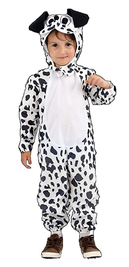 Kids Dog Fancy Dress Up Halloween Costume Dalmation Dalmatian