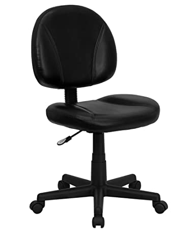 Flash Furniture Mid Back Black Leather Ergonomic Swivel Task ChairAmazon com  Flash Furniture Mid Back Black Leather Ergonomic  . Flash Furniture Mid Back Office Chair Black Leather. Home Design Ideas
